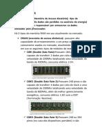 Tipos de Memória RAM