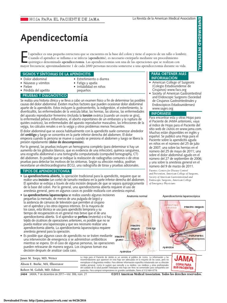 apendicectomia tecnica quirurgica
