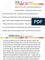 reflections for 10 lessons