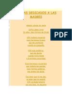 Poemas Dedicados a Las Madres