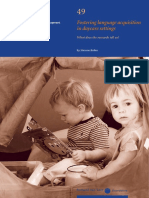 Fostering Language Acquisition in Daycare Settings What Does the Research Tell Us
