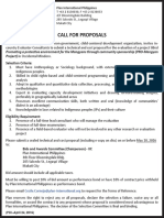 Call for consultant