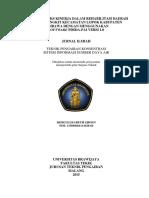 Analisa Indeks Kinerja Dalam Rehabilitasi Daerah Irigasi Pungkit Kecamatan Lopok Kabupaten Subawa Menggunakan Software PDSDA PAI Versi 1.0 Rizki Elizabeth Sjioen 115060401111026