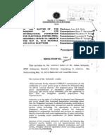 Comelec Resolution No. 8869