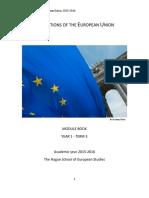 Institutions of the European Union - Module Book 2015-2016