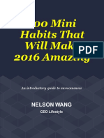 100 Mini Habits That Will Make 2016 Awesome