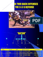 Defending 2 Back Offenses with the 3-3-5 Defense by David Brown