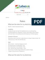 Lebanon Utilities - April 2016 Rates