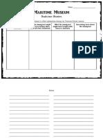 excursion notetaking sheet