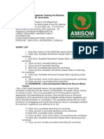 AMISOM Organizes Training On Election Reporting For Somali Journalists