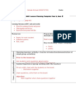 8th lesson plan  reading comprehension