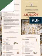 Programme Colloque Le Goût Tunis 13-14 mai 2010