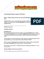 End Time Bible Prophecy- The Rapture