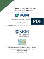 ORGANISATIONAL STUDY OF KSE LTDSUMMER INTERNSHIP REPORT