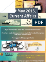 1 May 2016 Current Affair for Competition Exams