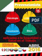 Revista El Prevencionista 13ava Edición