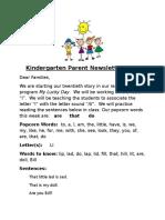 parent newsletter 20