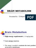 003 Brain Metabolism