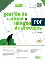 Flyer Eoi 2015 - Gestion de Calidad y Reingenieria de Procesos Online Web