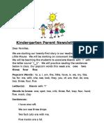 parent newsletter 21