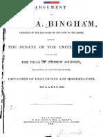Argument of John a Bingham 1868