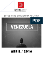 INFORME DATINCORP VENEZUELA ABRIL 2016