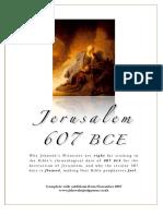 Jerusalem 607 BCE - Scriptural Basis