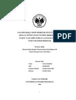 Tugas Akhir Analisis Kerja Mesin Hidrolik Pencetak Paving