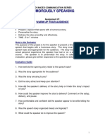Advanced Manual Project Objectives - Humorously Speaking
