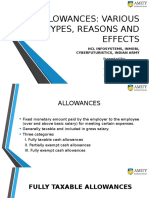 Allowances At Various Organizations