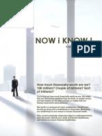 NOW i KNOW ! Cikaldana newsletter no. 01-2016 [on Measuring Your Networth]