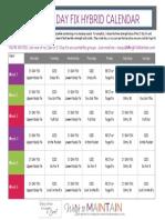 21 Day Fix - Hybrid Calendar
