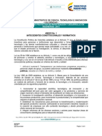 Anexo 1 Antecedentes Constitucionales y Normativos