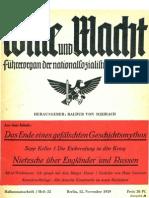 Wille und Macht - Führerorgan der nationalsozialistischen Jugend - 1939 - Heft 22 (31 S., Scan, Fraktur)