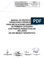 PR-MED-008 Manual Proteccion Radiologica Operacional