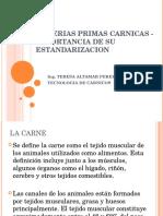 Materias Primas Carnicas - Importancia de Su Estandarizacion