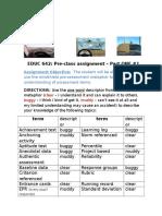 preclass assessment part one  2016
