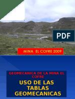 Uso de Las Tablas Geomecanicas
