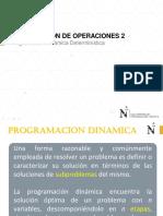 Introducción Programación Dinámica Determinística