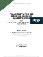 Temas Relevantes Del Derecho de Seguros Contemporaneo CILA-129
