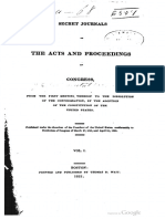 The Acts and Proceedings of Congress Secret Journals