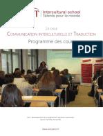 Programme Des Cours CIT 2015 2016