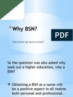 why bsn pp