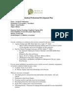individual professional development plan