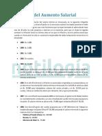 Histórico Del Aumento Salarial - Notilogía
