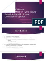 Effects of Phoneme Characteristics on TEO Feature-Based Automatic Stress Detection in Speech