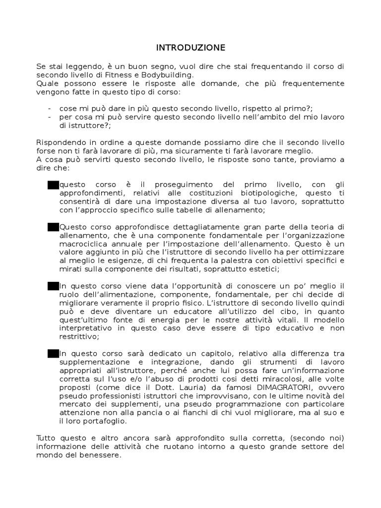 menu campione dietetico endomorfo