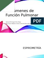 Exámenes de Función Pulmonar