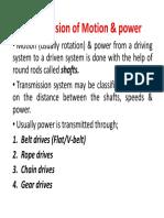 Transmission of Motion & Power3