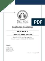 Práctica 5 - Chocolates Valor V3